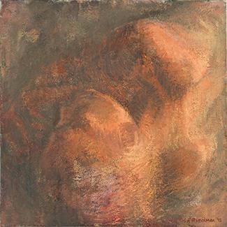 %22Small Sleeper 2%22 oil on canvas 41x41cm