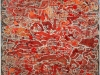 3%22Red Splash Layers%22 oil on linen 137x137cm